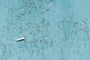 Rusty scratched blue exterior wall photo
