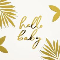 Hello baby gold sign photo