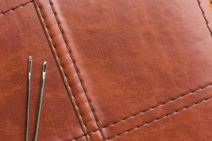 Leather with needles on it photo