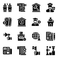 Political  and Tools vector