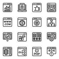 sitio web y diseño vector