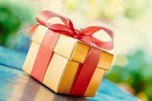 Christmas gift box photo