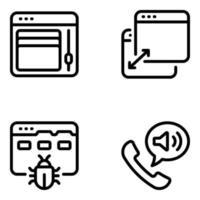 Modern Website Designing Tools vector