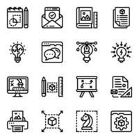 herramientas de redacción y web creativas vector