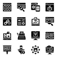 Web and Seo Elements vector