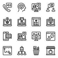 Online Media Elements vector