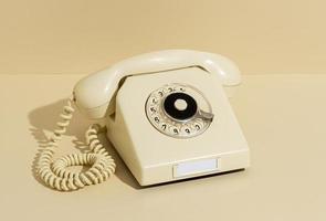 Vintage yellow telephone photo