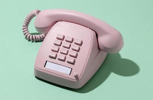 Vintage pink telephone photo