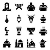 Muslim Culture Elements vector