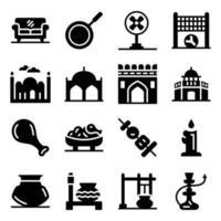 estilo moderno de la cultura paquistaní vector