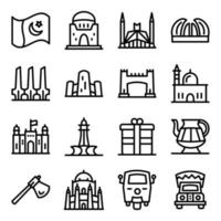 elementos de la cultura paquistaní vector