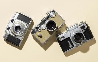 Vintage photo cameras composition