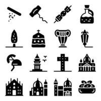 Italian History Elements vector