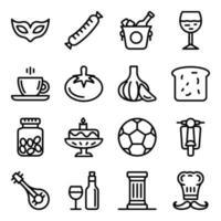 Italy Culture Elements vector