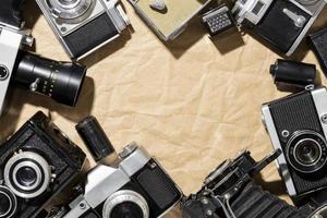 composición de cámaras de fotos vintage