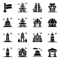 Indonesian Culture Elements vector