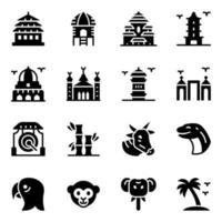 Indonesian Landmarks  Elements vector