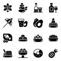 cultura y cocinas indonesias vector