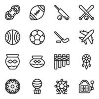 American Sports and Tribal Elements vector