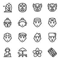 Indonesian Culture and Festival Masks vector