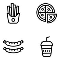 Junk Food and Drinks vector