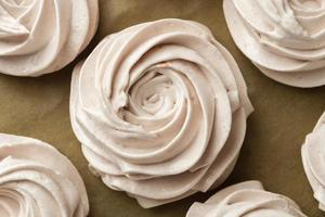arreglo de cupcakes vista superior foto