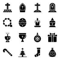 Christmas Decor and Catholic Graveyard vector