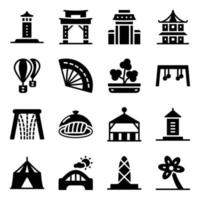 Singapore Traditions Elements vector