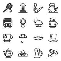 London cultural Elements vector