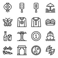 Singapore Heritage and Elements vector