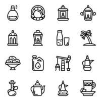 Qatar Culture Elements vector