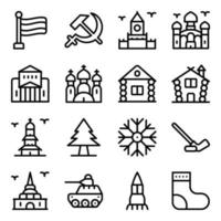 Russian Landmarks Elements vector
