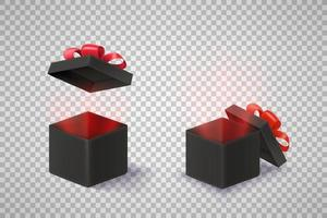 Opened black boxes vector clipart