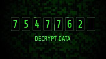 Digital Screen Decrypt Data