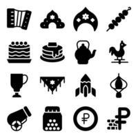 elementos culturales rusos vector