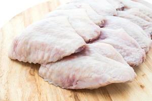 Raw fresh chicken wing photo