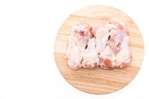 Raw fresh chicken leg photo
