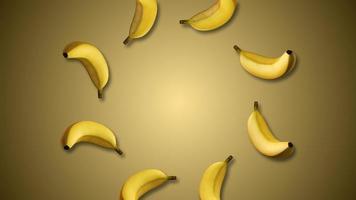 Rotating Bananas Motion Graphics Video