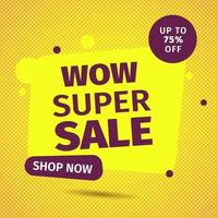 Sale banner template design. Super Sale, Special offer for web and social media marketing best price in vector