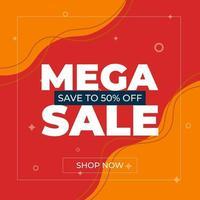 Sale banner template design. Mega sale, Special offer for web and social media marketing best price in vector