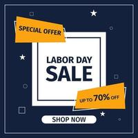 Sale banner template design. Labor Day Sale Special offer for web and social media marketing best price in vector