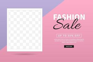 Fashion sale banner template design. Special offer. Mega sale and Big sale for web and social media marketing best price in vector