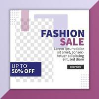 Sale banner social media post template design. Special offer. Mega sale and Big sale in vector