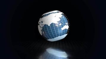 globo azul dentro de um globo em grade video