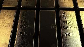Panning over Row of Gold Bricks