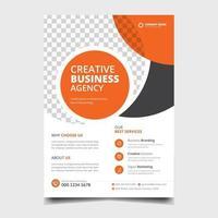 Corporate marketing flyer template vector