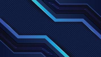 Blue abstract tech geometric modern background