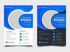 Corporate Conference Business flyer a4 template design layout set vector