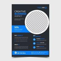 Corporate Conference Business flyer a4 template design layout vector