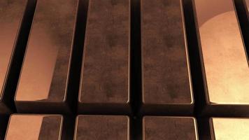 fondo de lingotes de cobre puro video